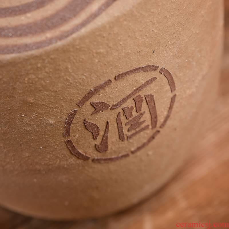 Sichuan earthenware jar unglazed ceramic seal home 10 liquor 50 tons of it more coarse pottery 1000 cellar wine