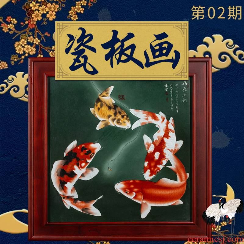 Ning sealed up with porcelain plate painter jingdezhen hand - made archaize to hang in the living room sofa setting wall porcelain plate painting ceramics