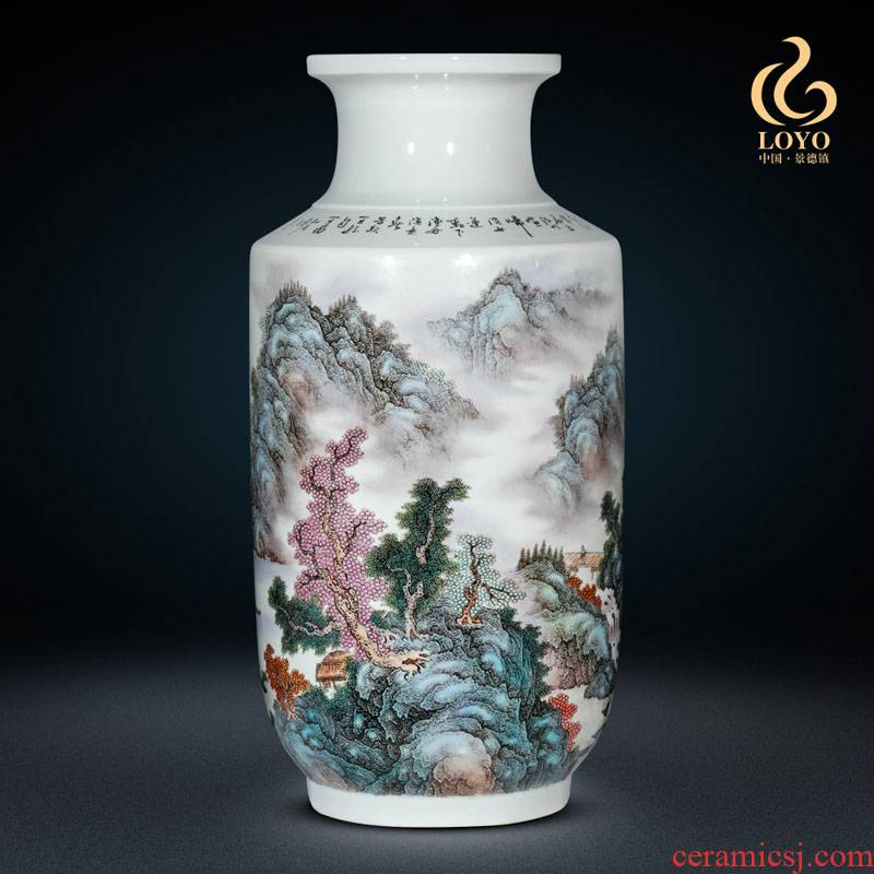 Jingdezhen ceramic masters of large vase hand - made jiangnan amorous feelings of famille rose decoration furnishing articles opening taking gifts