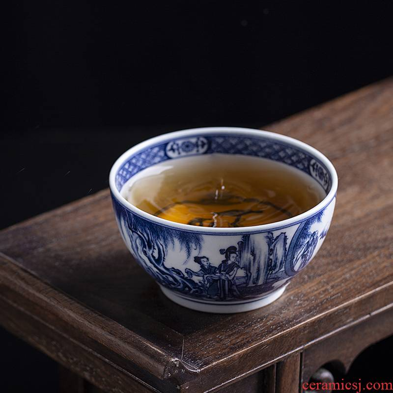 Clock home sample tea cup pure manual hand - made porcelain up maintain sample tea cup west chamber ceramic kung fu tea set