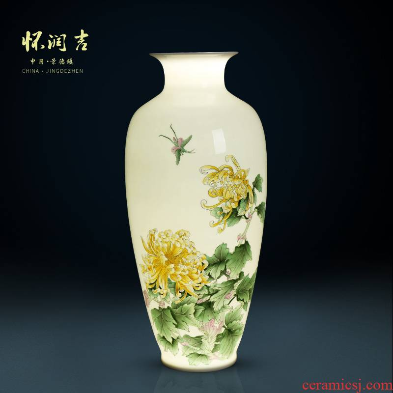 Jingdezhen ceramic thin porcelain porcelain hand - made by fragrance cixin qiu - yun, pervious to light the vase modern Chinese style decoration penjing collection level
