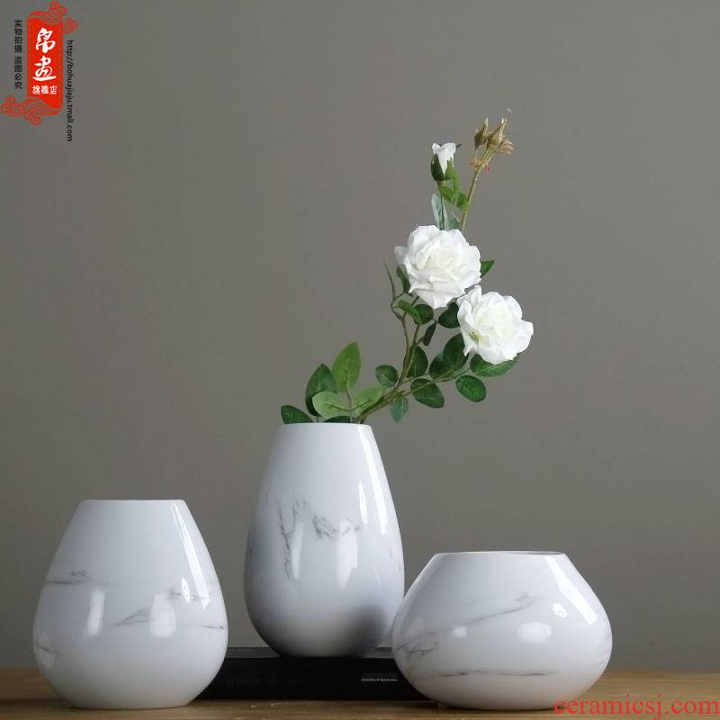 Jingdezhen vase furnishing articles of new Chinese style ceramic porch home sitting room adornment Nordic table dry flowers in the vase