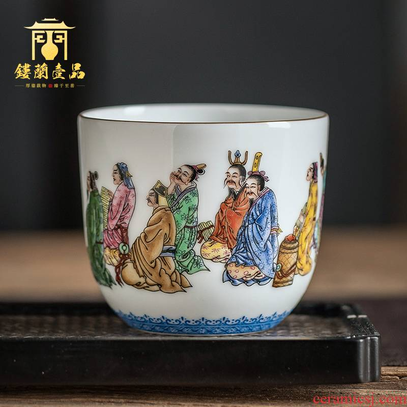 Jingdezhen ceramic figure all hand - made Confucius would master cup sample tea cup single cup play kung fu tea cups