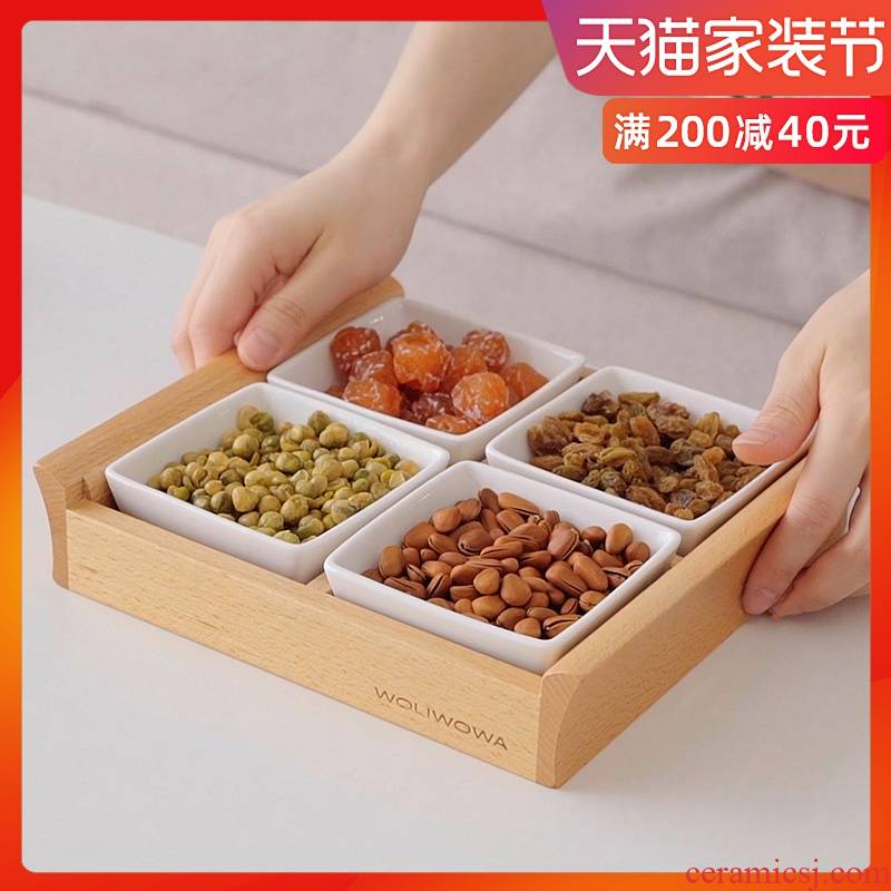Creative Japanese tableware sitting room snack plate tray of fruit snacks snack plate plate plate ceramic condiment dishes