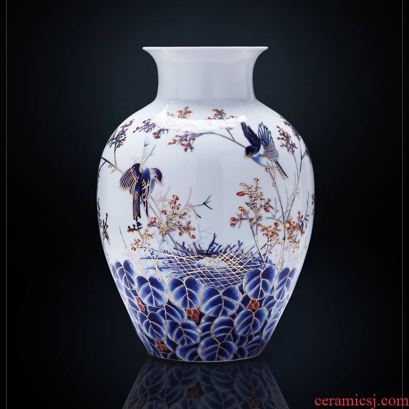 Jingdezhen ceramics masters fuels the hand - made vases furnishing articles of Chinese style living room home TV ark adornment arranging flowers