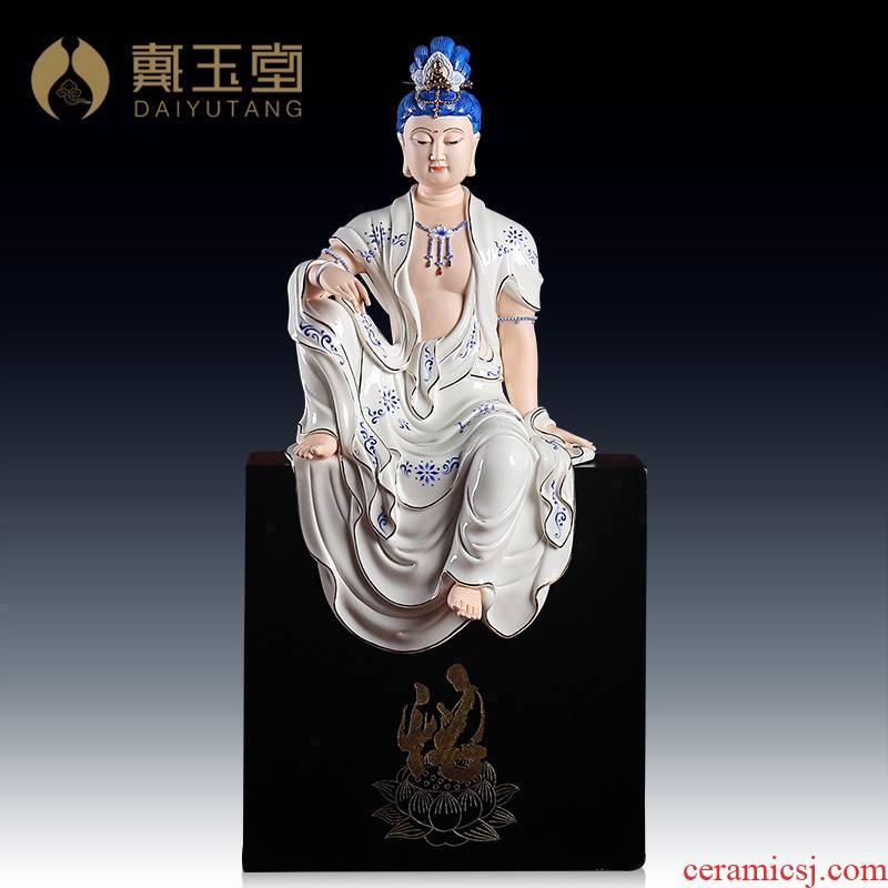 Yutang dai dehua avalokitesvara figure of Buddha, its art ceramics/19 inches free goddess of mercy