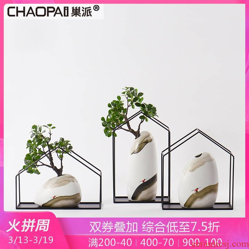 New Chinese style ceramic flower arranging device furnishing articles sitting room porch ark of edge of chair of a TV dinner vase act the role ofing is tasted study bookcase crafts