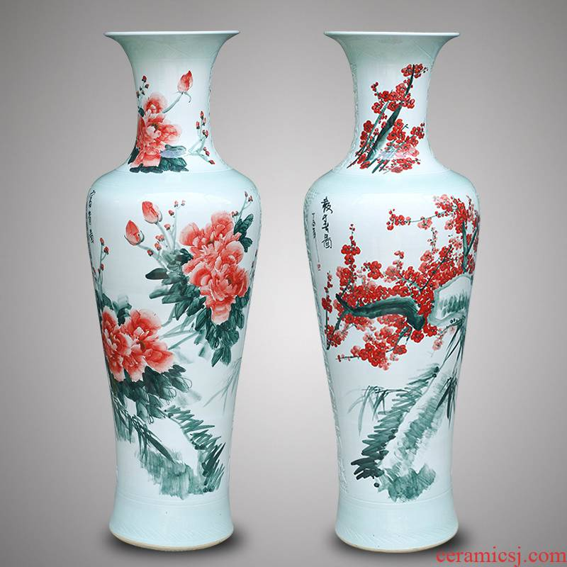 Jingdezhen ceramics hand - made beaming TV ark of large vases, new Chinese style of the sitting room porch place