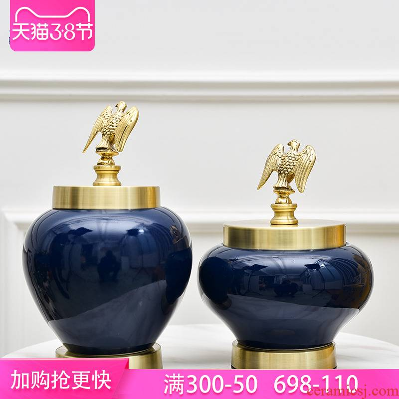 European ceramic vases, flower arrangement sitting room place villa home sitting room TV ark adornment ceramics storage tank