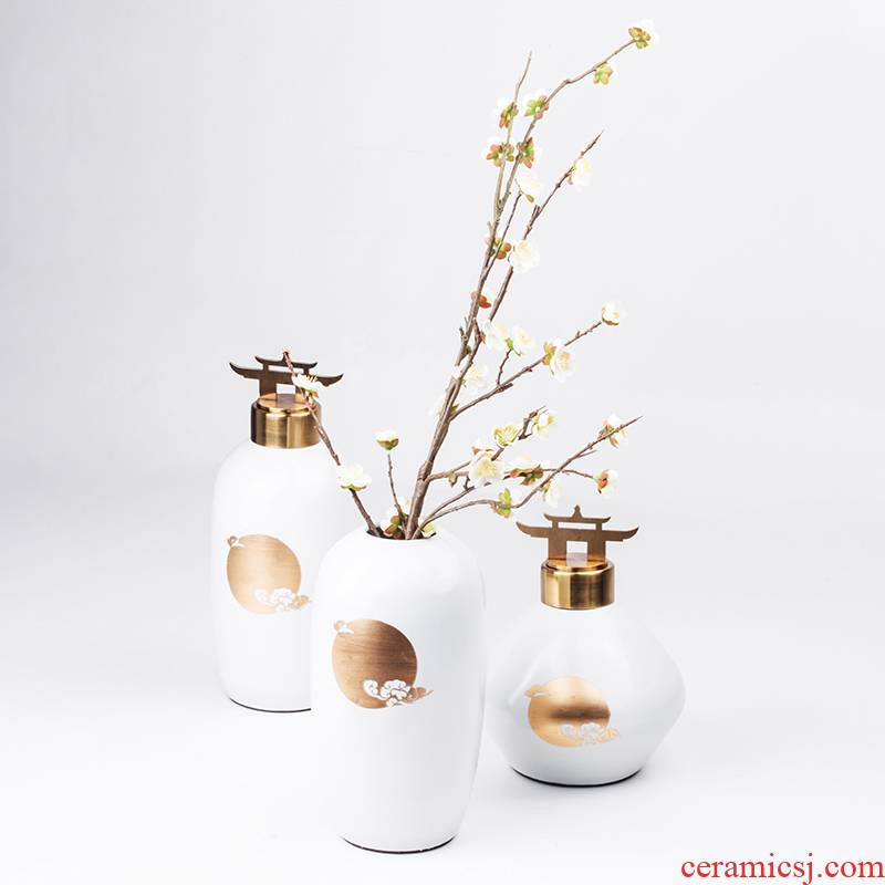 New Chinese style ceramic jar example room rich ancient frame soft adornment of the sitting room porch light vase key-2 luxury furnishing articles