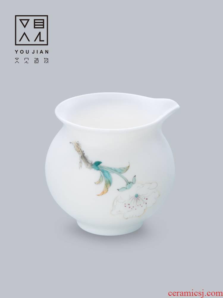 And creation of tea fair keller dehua ceramic checking household porcelain points tea, tea taking of spare parts