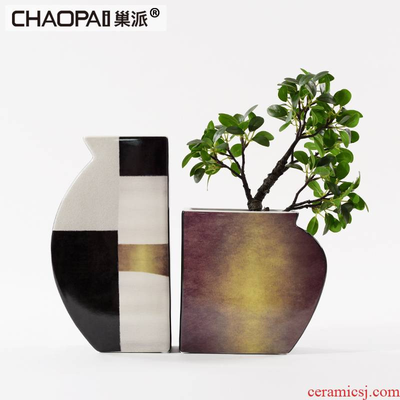 New classical creative ceramic flower implement sales department hall front desk to discuss the desktop furnishing articles, small family model that act the role ofing is tasted