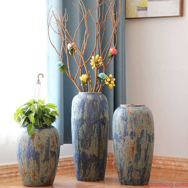 Jingdezhen coarse some ceramic jar jar flower implement ground vase earthenware restoring ancient ways do old big flowerpot example room decoration