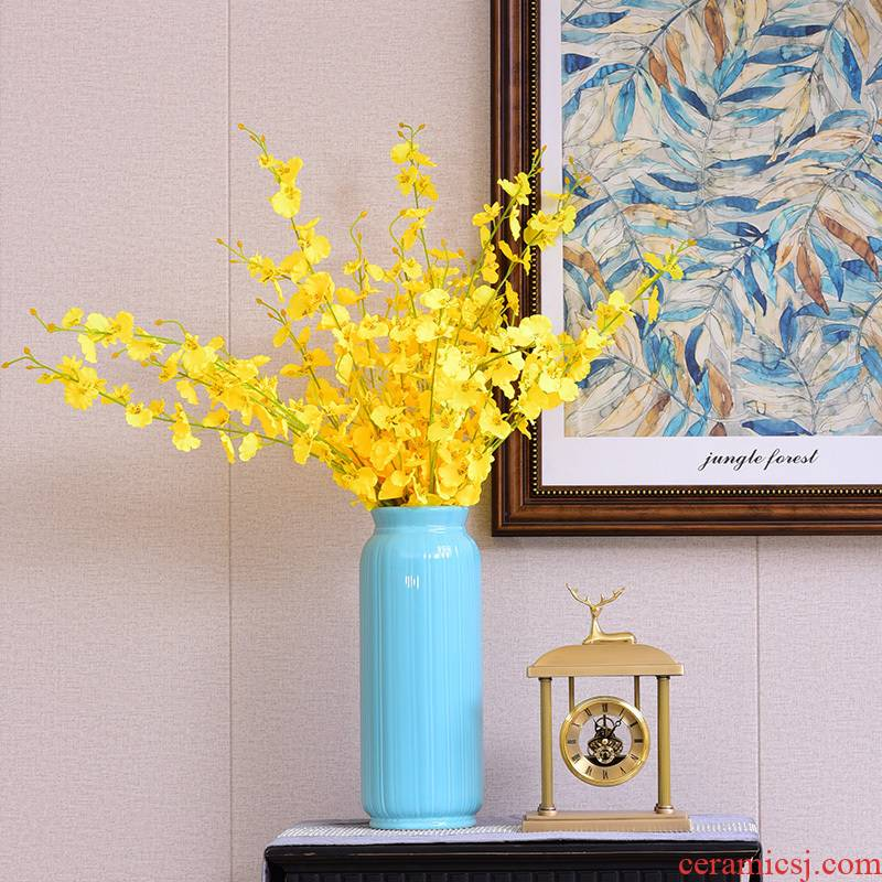I and contracted ceramic vase furnishing articles home sitting room tea table table flower arranging big vase dried flowers Nordic adornment