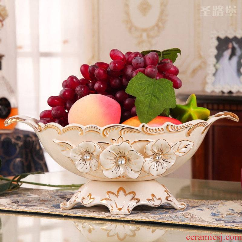 Ou compote furnishing articles home large sitting room compote individuality creative wedding fruit bowl European ceramic decoration