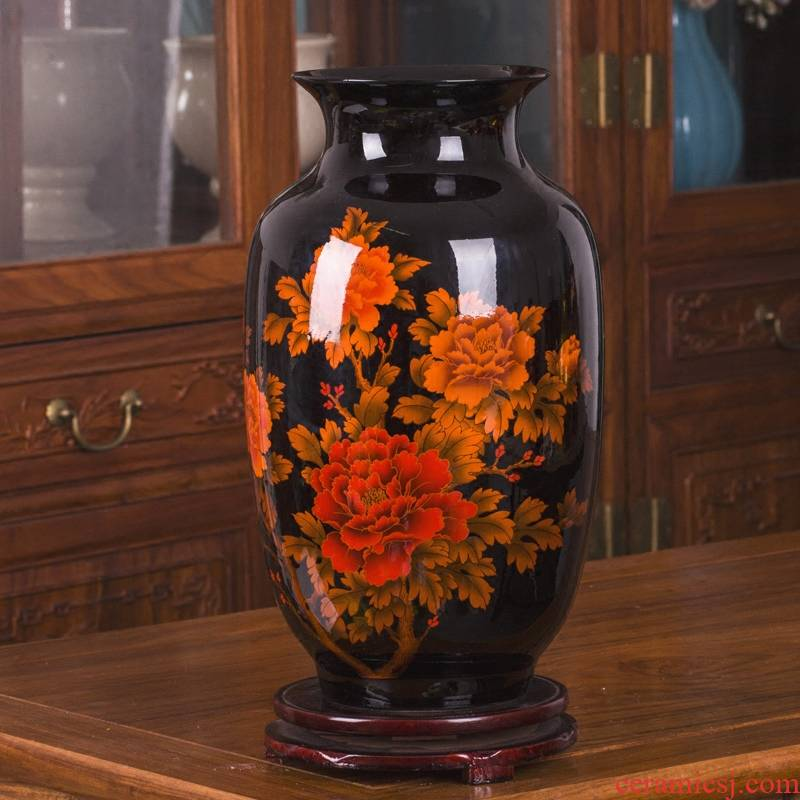 Jingdezhen ceramic ware vase is I and contracted sitting room flower arranging handicraft furnishing articles rich ancient frame decoration decoration