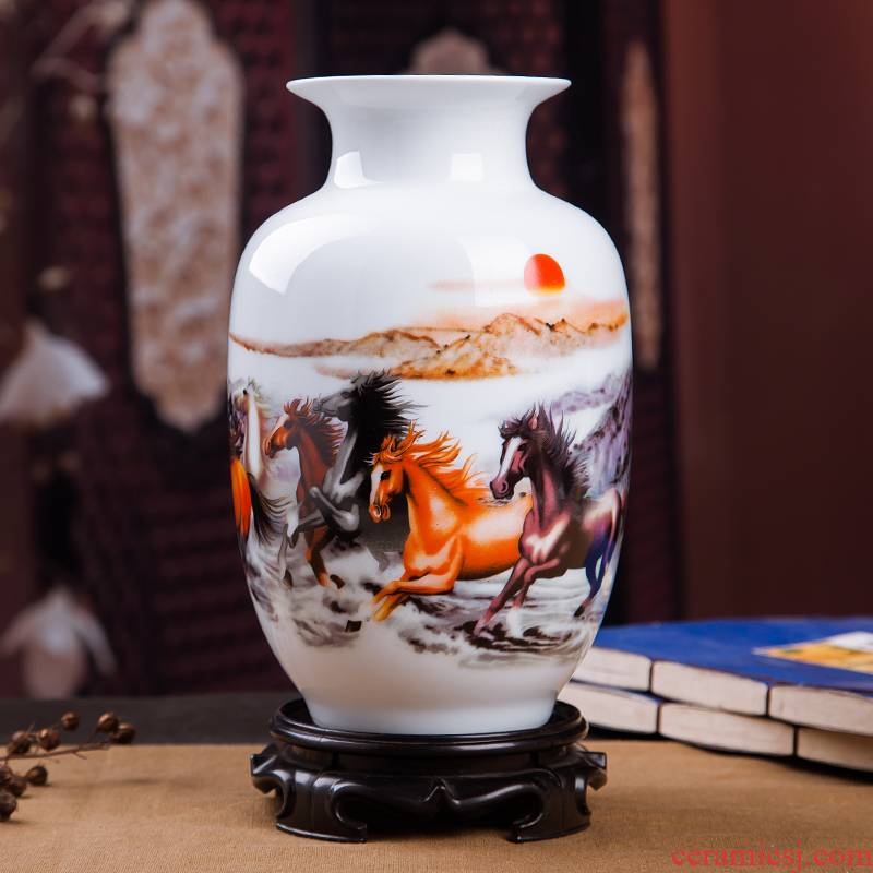 Jingdezhen ceramics vases, I and contracted place flower arranging small porcelain wine handicraft decorative household items