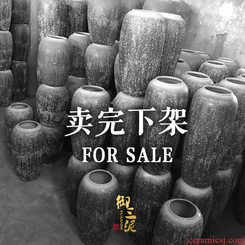 A clearance of jingdezhen ceramic vase landing sitting room dry flower is placed to restore ancient ways produce in arranging flowers flower garden decoration