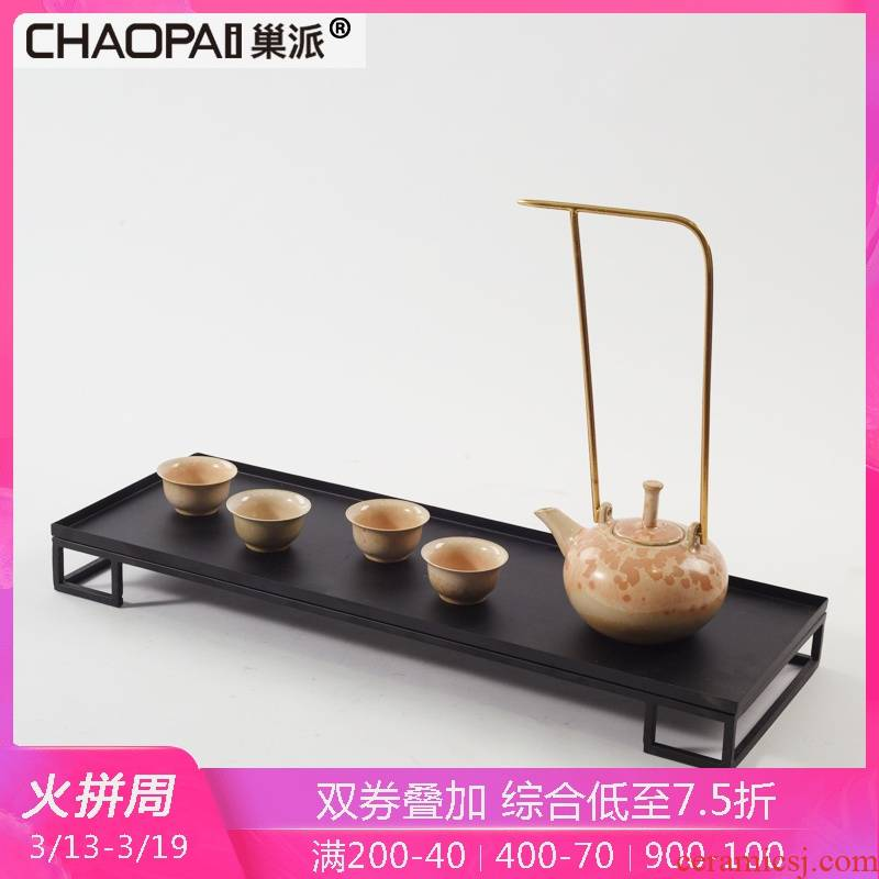 Combination of the new Chinese zen tea set is placed between example sitting room tea room what teapot teacup ceramic decorative furnishings