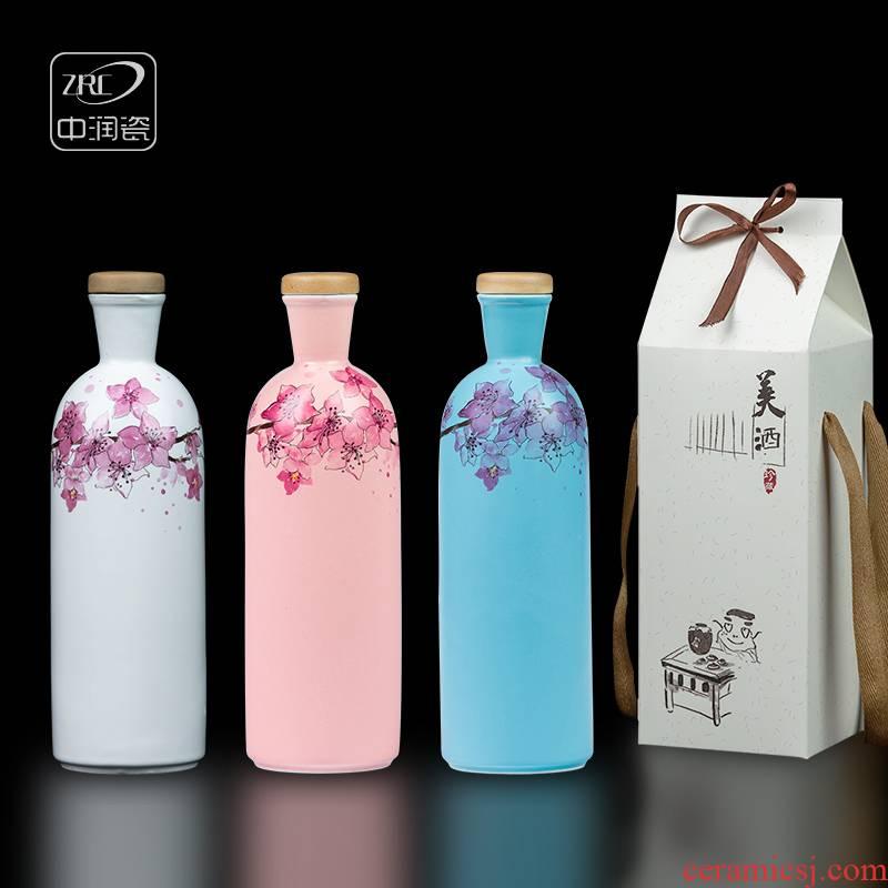 Jingdezhen ceramic creative an empty bottle bottles household archaize hip flask little jars liquor bottle a kilo