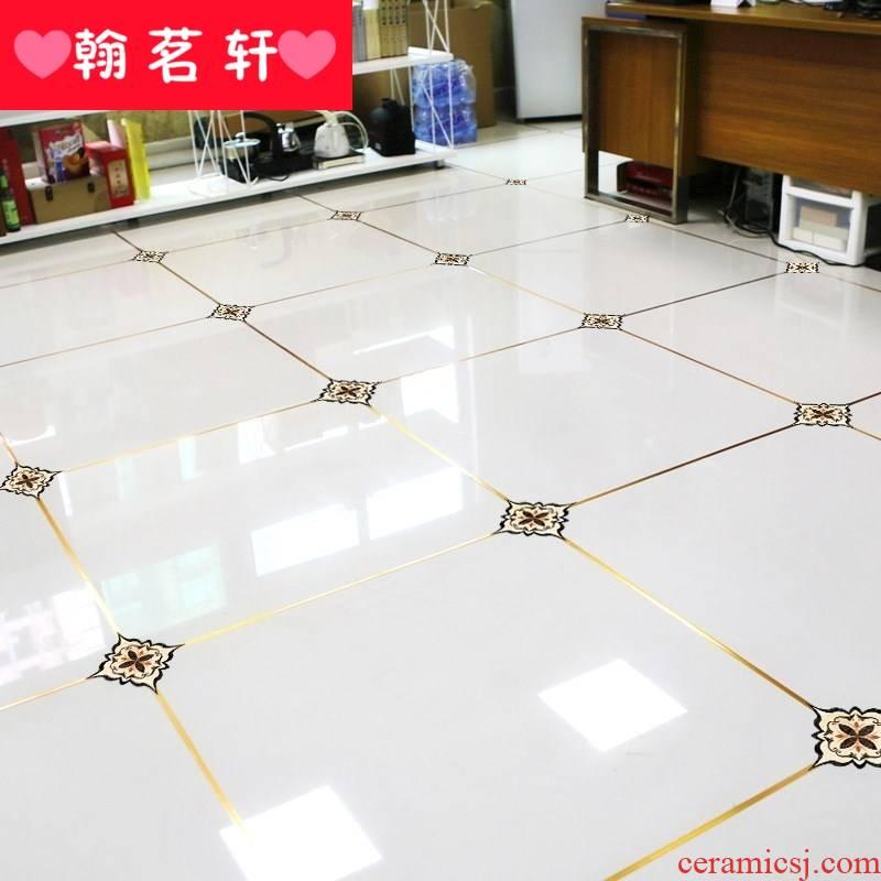 Beautiful line light short of floor tile decorative sewing label adhesive bedroom living room floor tile diagonal decals waterproof
