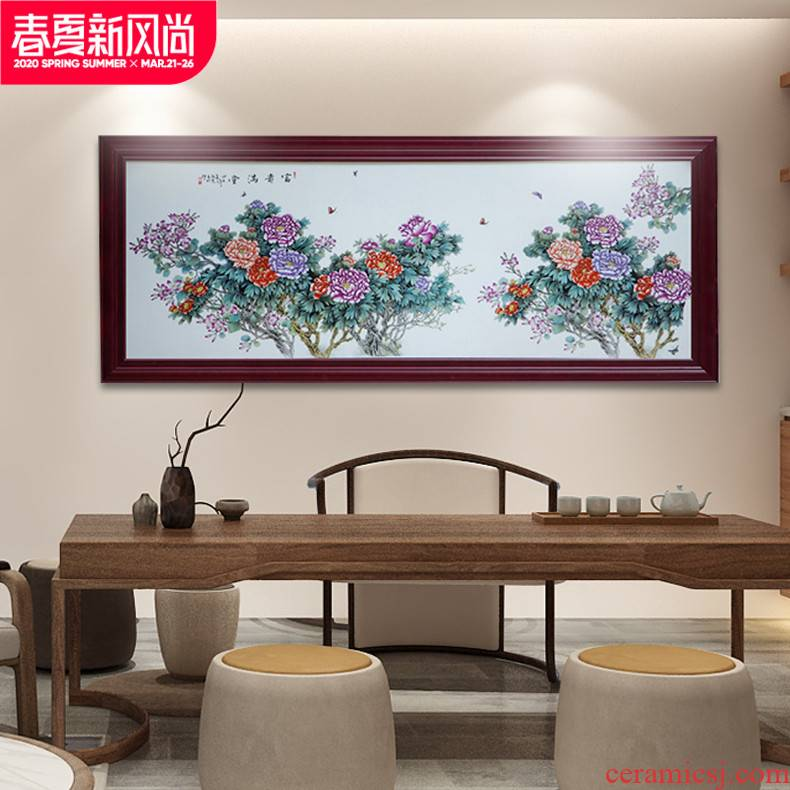 Archaize ceramic decoration carving ceramic porcelain plate paint walls central scroll painting jingdezhen famous traditional Chinese painting