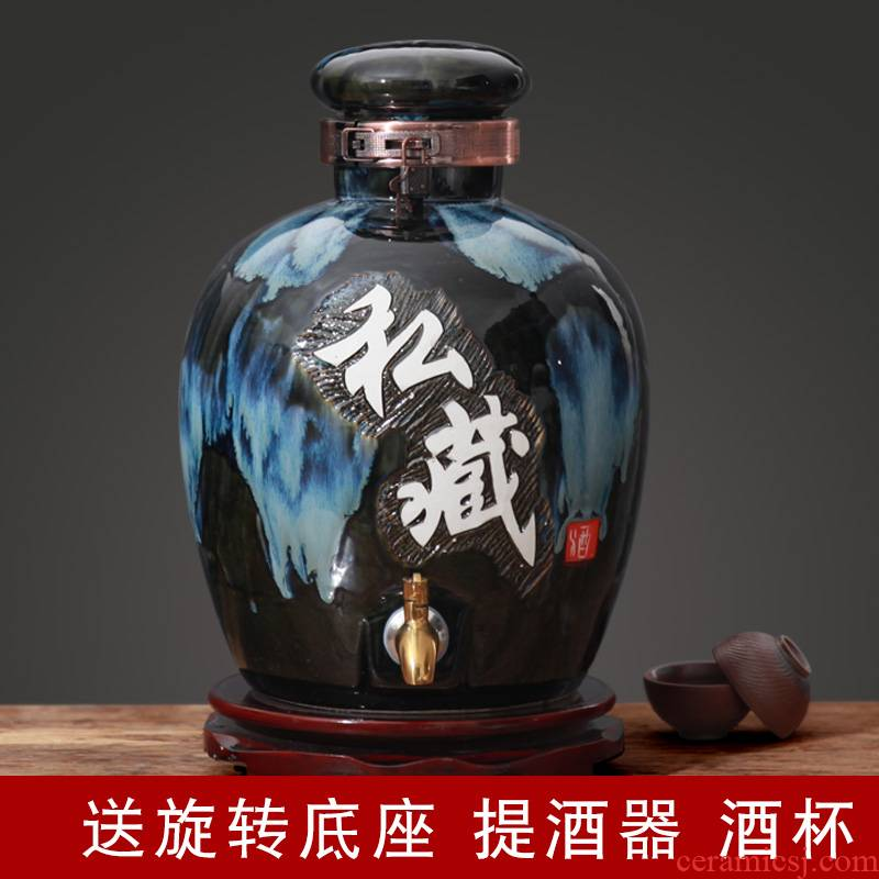 Jingdezhen ceramic altar tap water expressions using 30 kg medicine wine brew it home empty bucket sealing mercifully wine jar