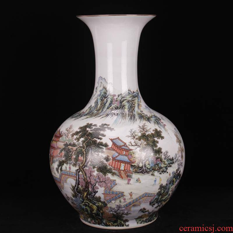 Jingdezhen pastel xanadu design company store hotel archaize sitting room of Chinese style household of large vase