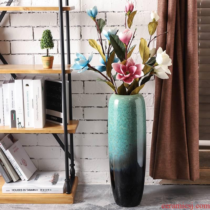 Jingdezhen European - style landing simulation flower vases, ceramic sitting room suit furnishing articles lucky bamboo vase lily arranging flowers