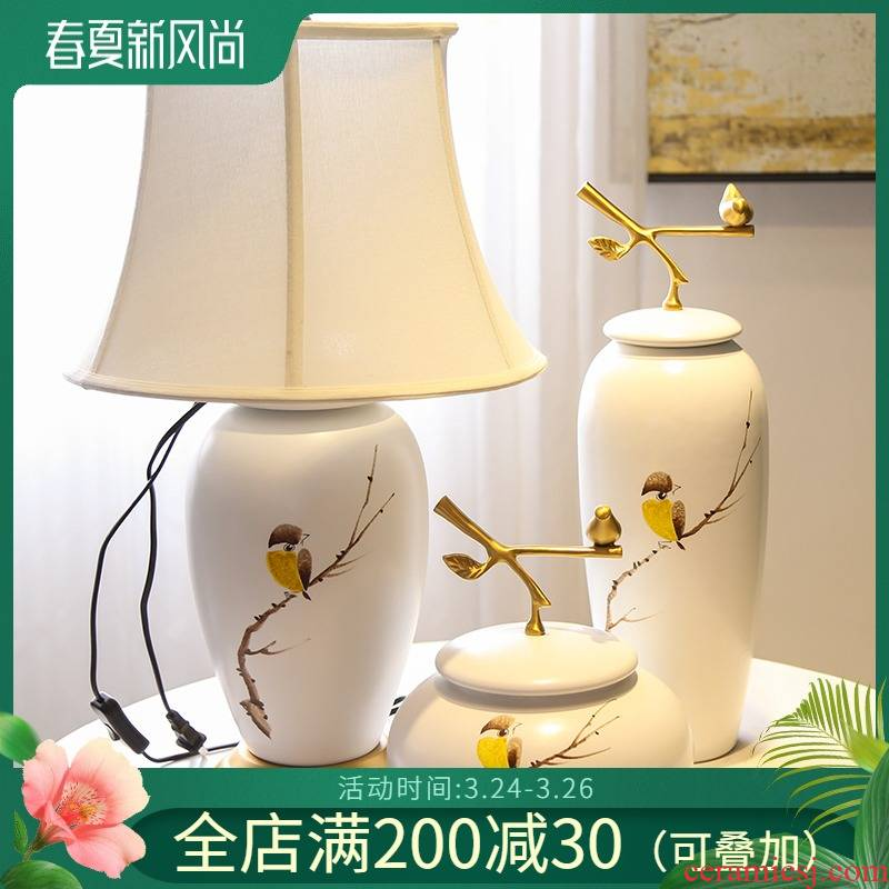 Jingdezhen new Chinese hand - made ceramic decoration example room hotel villa decorations piggy bank table big furnishing articles