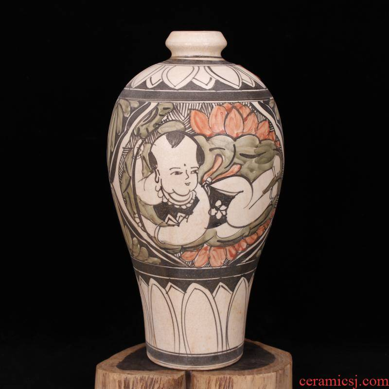Jingdezhen magnetic state up antique imitation of the song dynasty unearthed cultural relics antique hand - made baby play mei bottles of vintage home furnishing articles