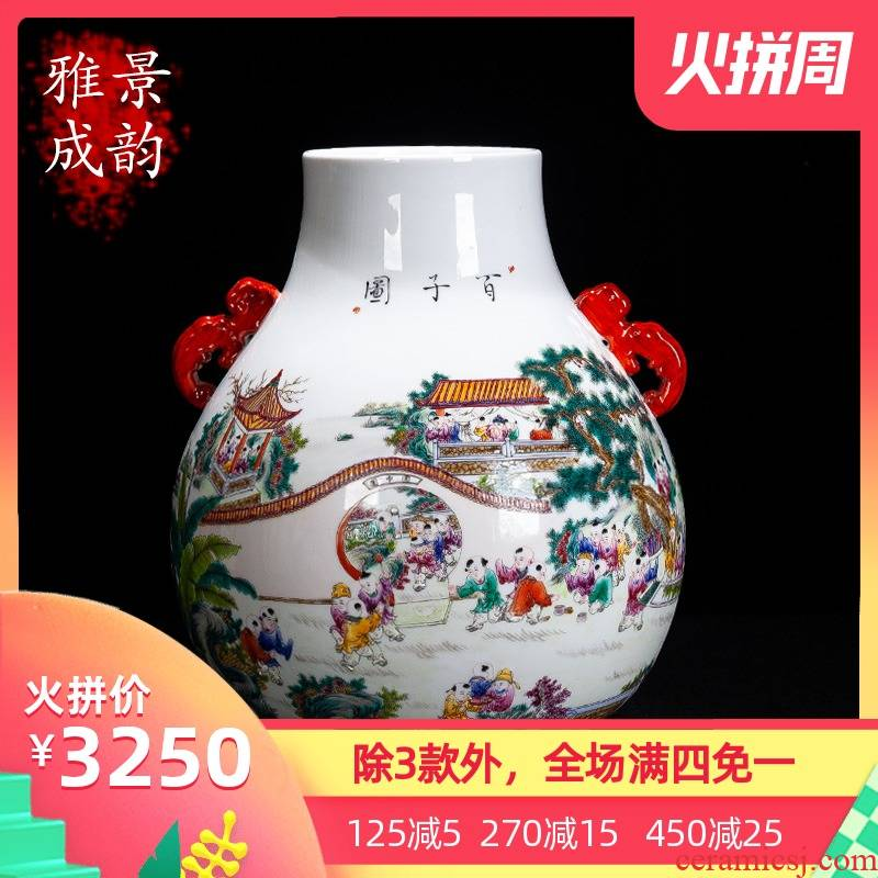 Jingdezhen ceramic I and contracted hand - made figure vase decoration place to live in the sitting room the ancient philosophers flower porcelain
