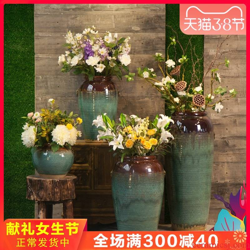 Jingdezhen ceramic vase of large hotel hotel sales department between example large vases, flower, flower arranging furnishing articles