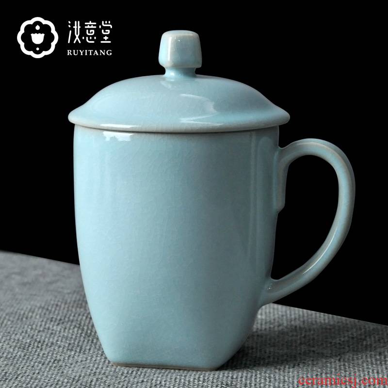 Your up glass ceramic tea cup of the porcelain office cup keller cup office male with cover Chinese gift boxes