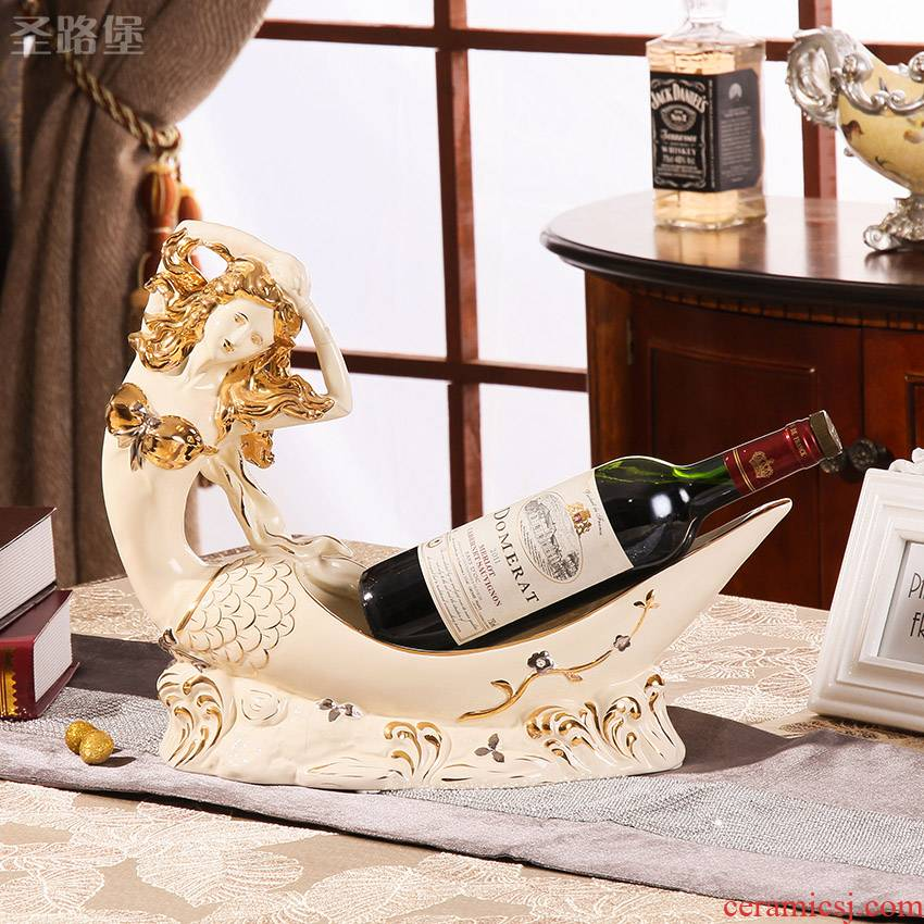 SAN road fort European ceramic mermaid wine wine ark, adornment inside adornment furnishing articles wedding gift