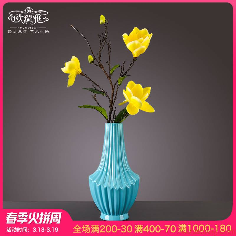 I and contracted vase furnishing articles sitting room furniture originality dried flower arranging flowers, artificial flowers, artical ceramic soft decoration