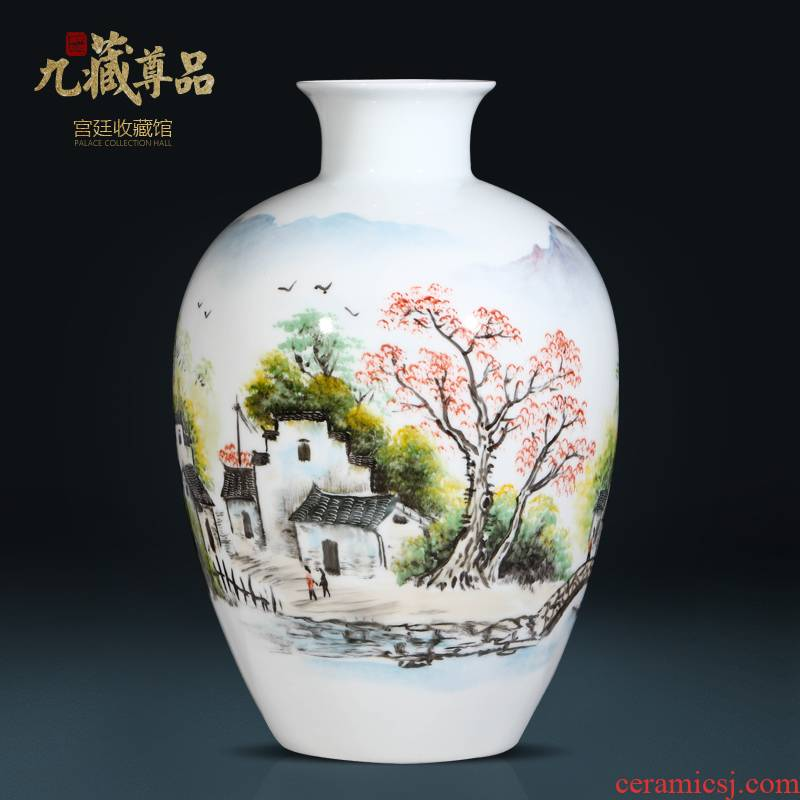Jingdezhen ceramics Chinese hand - made vases sitting room home TV ark, arranging flowers adornment furnishing articles wedding gift