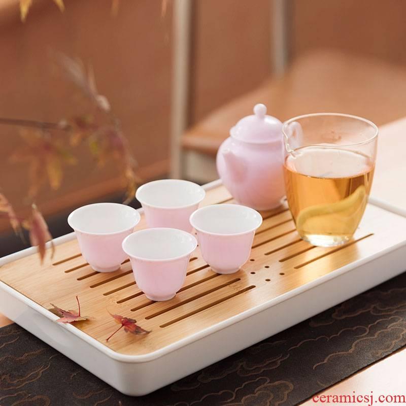 "JingLanShan content of jingdezhen ceramic tea set suit modern Nordic contracted household tea tray, tray office"""