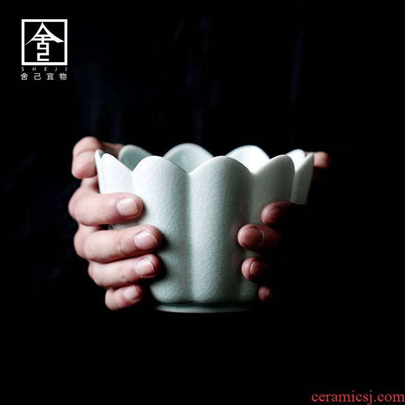 """The Self - """"appropriate content to build water tea tea to wash to wash water, after the small jingdezhen ceramic household vintage Japanese cup for wash dross barrels"""