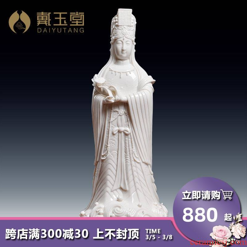 Yutang dai dehua ceramic Buddha home furnishing articles to mazu empress sea mazu as/D18-50
