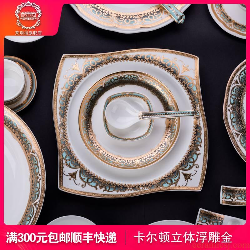 Larry f dishes suit household tableware suit ipads porcelain bowl noodles bowl chopsticks dishes European ceramics combination