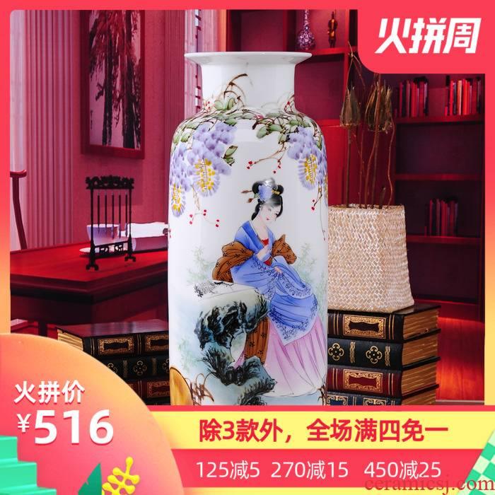 The Master of jingdezhen ceramic hand - made vases, ceramic flower arrangement of modern Chinese style of I sitting room furnishing articles