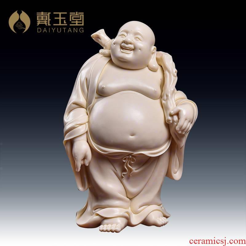 Yutang dai boutique works dehua porcelain carving jade huang maitreya Lin Jiansheng masters/D03-168 - g