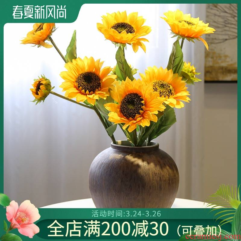 Jingdezhen ceramic mesa of new Chinese style vase simulation flower flower flower TV cabinet table sitting room porch furnishing articles