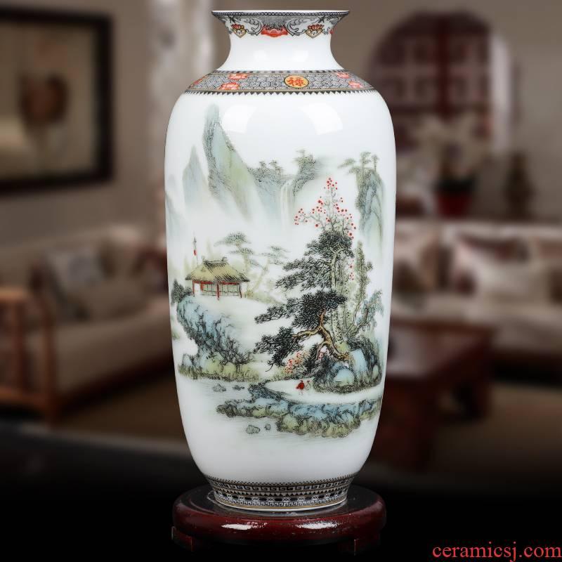 Jingdezhen ceramics powder enamel Chinese floret bottle arranging flowers home wine ark, adornment handicraft furnishing articles sitting room