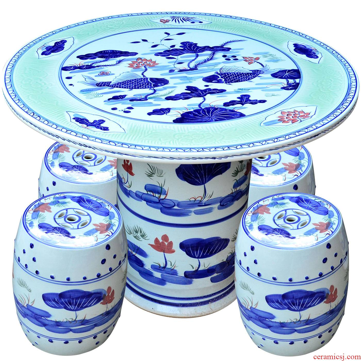 Jingdezhen ceramics archaize ceramic table who suit is suing garden decorative garden balcony garden chairs and tables