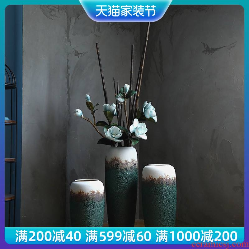 Jingdezhen ceramic flower, dried flower arranging flowers is contracted and I sitting room porch window hydroponic container European vase