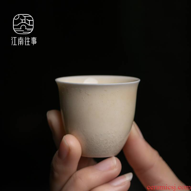Jiangnan hand past kung fu small sample tea cup tea cups of household ceramics firewood single tea tea set single CPU
