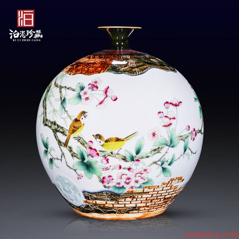 Jingdezhen ceramics Chinese hand - made dried flower flower vase furnishing articles sitting room porch bedroom TV ark, adornment