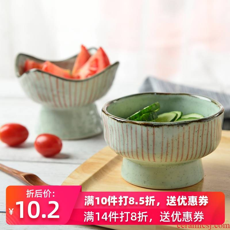 Three Korean ceramics, creative dessert bowl of ice cream to use high hot soup bowl snack bowl dish bowl bowl